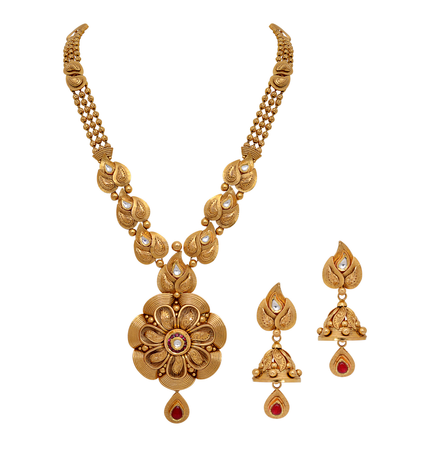 Gold necklace designs in grt jewellers - The Swanky Sanaz Necklace