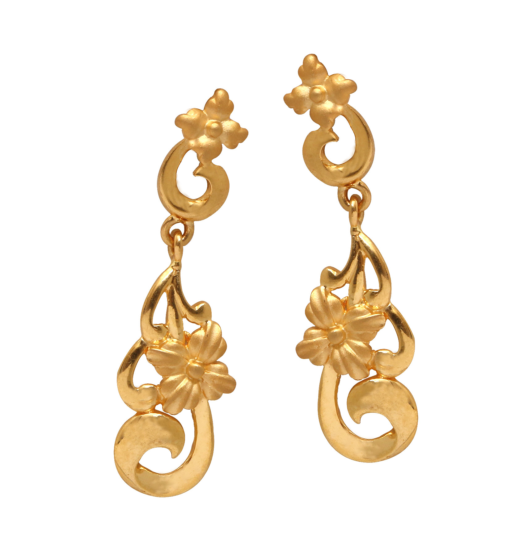 The Alainna Fl Gold Earrings