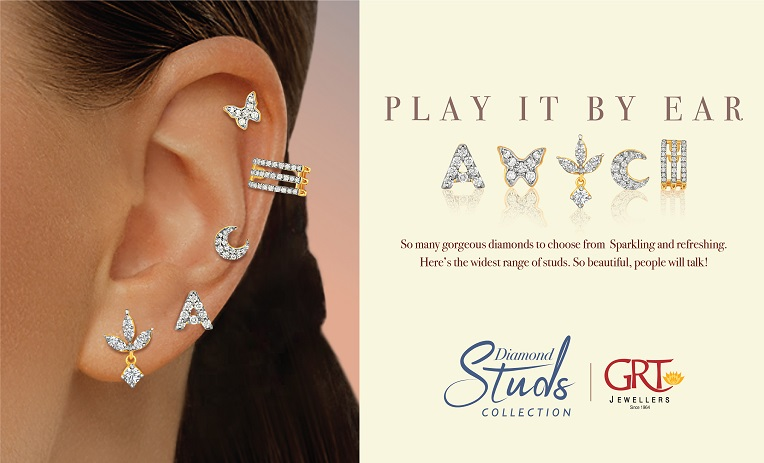Diamond Stud Collection by GRT Jewellers