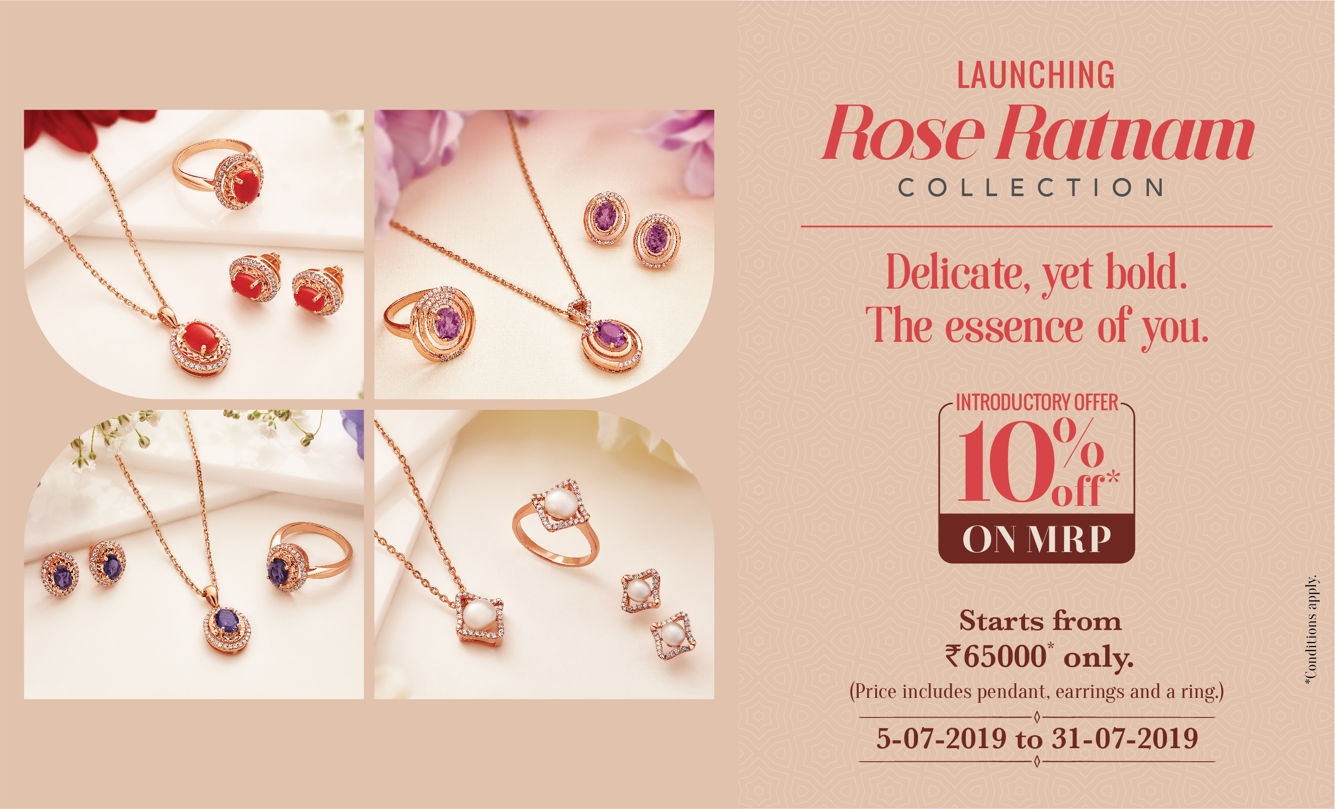 GRT Jewellers Rose Ratnam Collection