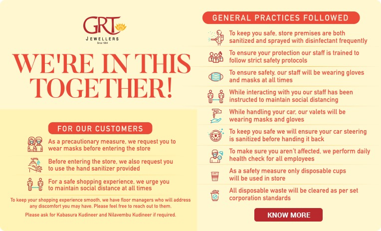 GRT Jewellers Store Reopening Guide