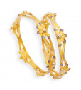 Dazzling Gold Fancy Bangles