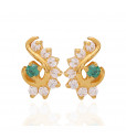 The Eva Stone Studded Gold Earrings
