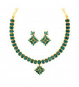 Traditional South Indian Bridal Emerald Necklace Set