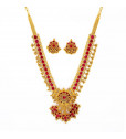 Diamond Necklace with Mozambique Red Rubies
