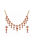 Dew-Drop Design Coral Necklace