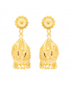 Sunflower Design Gold Earring