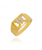 Enigma Four Stone Baby Gold Ring