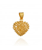 Beautiful Heart That Hold Your Loved One Gold Pendant