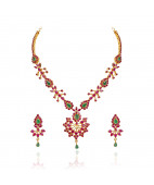 Exclusive Indian Bridal Ruby & Emerald Necklace set