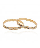 Beautifully crafted AU Gold Bangle