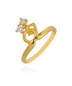Double Stone Baby Gold Ring