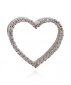 Diamond Studded Heart Pendant