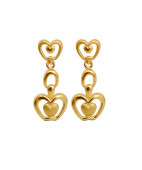 Gold Apple Earrings