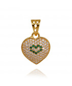 Lovable Gold Heart Pendant
