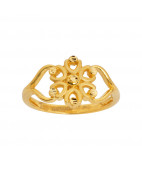 Six Petal 22KT Gold Ring