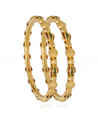 The Varika Enameled Gold Bangles