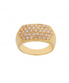 CZ 22KT Mens Gold Ring