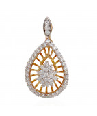 The Serenity Expression Pear Drop Diamond Pendant
