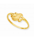 Well Crafted Leaf Design gold Casting Ring