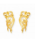 Gold Conch Designer Earring