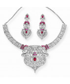 Gorgeous Silver Bridal Necklace Set