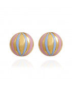 Enamel Gold Ball Stud for Kids