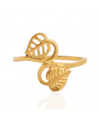 The Aspen Leaf Gold Ring