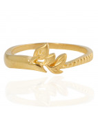The Oyster leaf Gold Ring