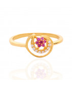 Floral Chand Gold Ring