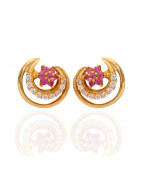 Floral Chand Gold Earrings