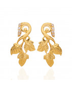 The Hawthorn Leaf Gold Earrings
