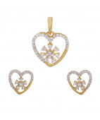 The Valentine Diamond Pendant Set