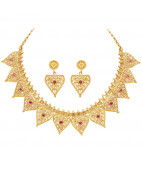 Fine Filigree Artisan Work Gold Antique Necklace Set