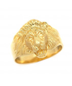 Ornate Lion Face Ring