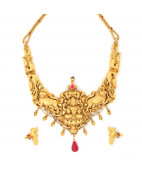 Traditional South Indian Nagas Mahalakshmi Necklace set