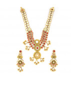 Traditional Bezet Set Uncut Diamond Necklace