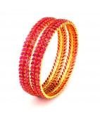 South Indian Bridal Ruby Bangles