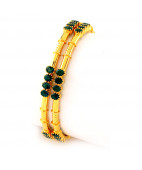 Enthralling Green Emeraldd Bangles