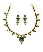 Zambian Emerald Studded Necklace Set