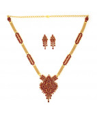 Exclusively Designed Ruby Necklace Set