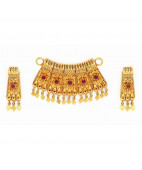 Traditional Nagas Work Pendant with Ear studs