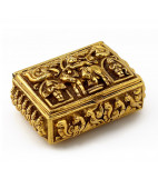 South Indian Nagas work Gold Jewel Box