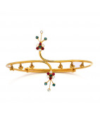 Cross-Over Ruby Emerald Armlet - Bajuband