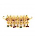Traditional Ruby & emerald beads Armlet - Vanki
