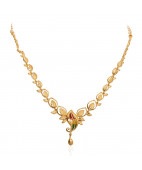 The Magnolia Leaf Gold Necklace