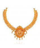Beautifully Crafted Lakshmi Silver Necklace
