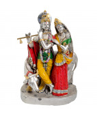 Radha Krishna Idol With Kamadhenu