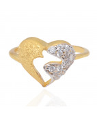The Kissing Heart Gold Rings
