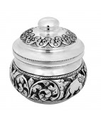 925 Silver Box With Antique Finishing